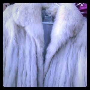 Genuine Fox fur coat.